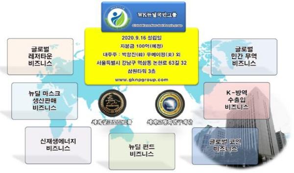 WK뉴딜국민그룹, 코로나19 방역마스크 '강원도' 기부