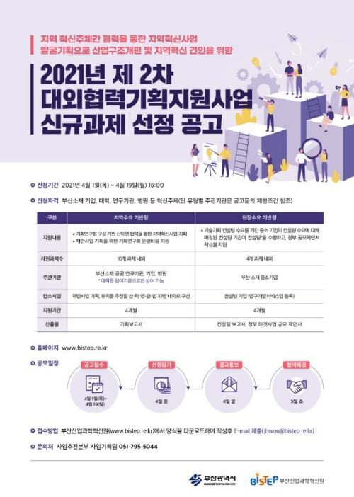 부산시, 지역 혁신산업 발굴·기획 지원해